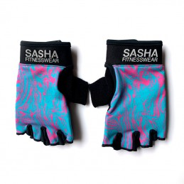 Guantes Fitness Azul Rosa