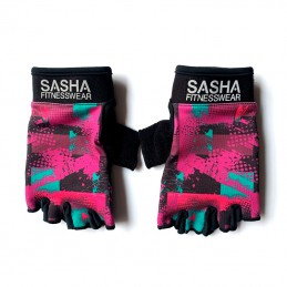 Guantes Fitness Rosa Verde
