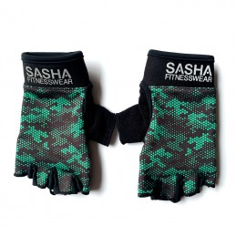 Guantes Fitness Verde...